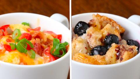 2 gyors bögrés reggeli édesszájúaknak és a sós ízek kedvelőinek