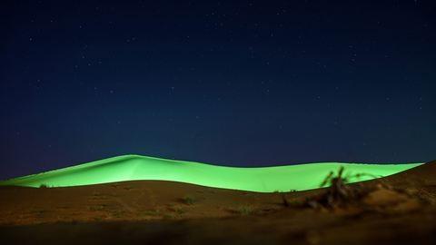 Dubaj, a hely ahol a sivatag is díszkivilágítást kap