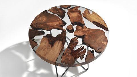 50 000 éves fából készült a menő dizájnasztal