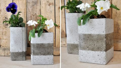 Így készíts menő, minimalista betonkaspót