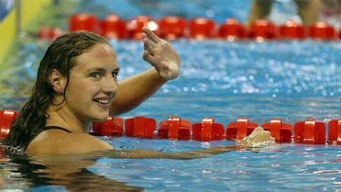 Így örül Hosszú Katinka a hétvégén nyert kilenc aranynak