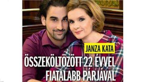 Janza Kata és 22 évvel fiatalabb párja összeköltöztek