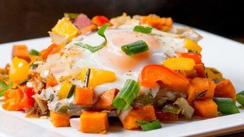Édesburgonyás egytál reggelire