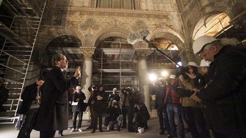 Belestünk a Szépművészeti 70 éve elzárt Román Csarnokába – fotók