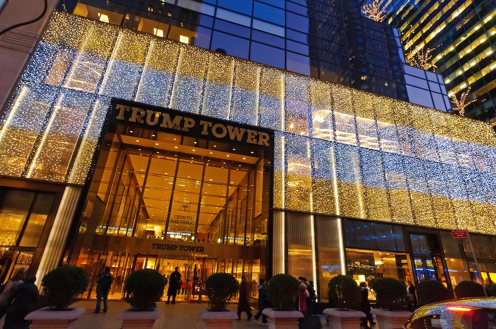 A manhattani Trump Tower bejárata - a környéket manapság az amerikai titkosszolgálat tartja megszállva (Fotó: Tumblr)