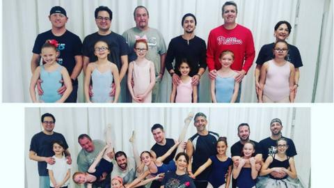 Kislányaikkal balettozó apukákat imád most a világ – videó