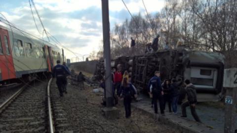 Kisiklott egy vonat Brüsszelben