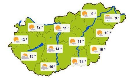 Szokatlanul meleg lesz holnap