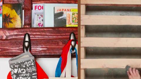 DIY: Így lesz egy raklapból többfunkciós polc – videó