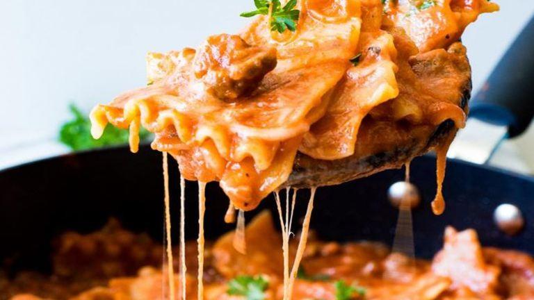 Villámgyors serpenyős lasagne