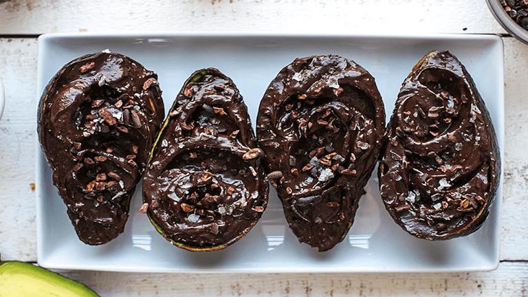 Avokádós csokipuding
