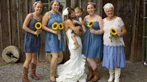 92 éves nagymamája kísérte oltárhoz a menyasszonyt