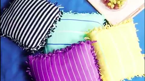DIY: menő párnahuzat régi pólókból