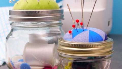 DIY: tündéri tűpárna befőttesüvegből