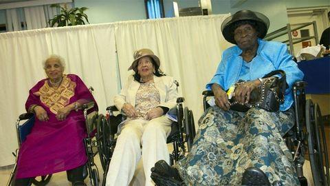 Egyszerre ünnepeltek az öregotthon százéves lakói