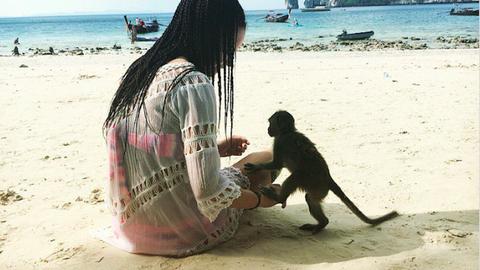 Az állatbarátok kedvenc strandján egy majomból lehet a legjobb barátod – fotók