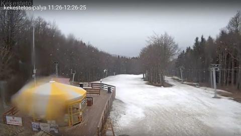 Márciusi havazás: a Kékesen már esik