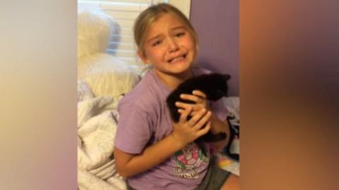Senki nem örült még úgy cicának, mint ez a kislány
