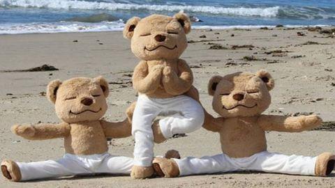 Testtudatos tedimackó neveli a gyerekeket a jógára