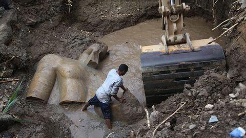 3000 éves Ramszesz-szobrot találtak Kairóban