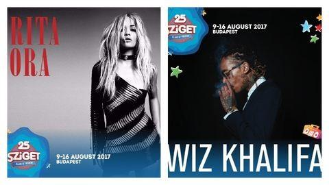 Rita Ora, Wiz Khalifa is jön a Szigetre