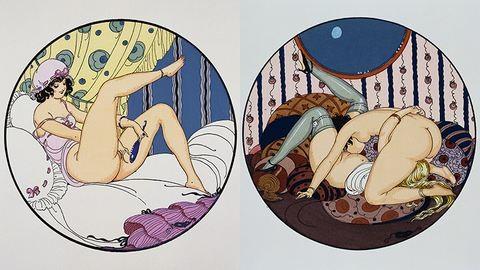 Leszbikus erotika: buja aktok a merész festőnőtől