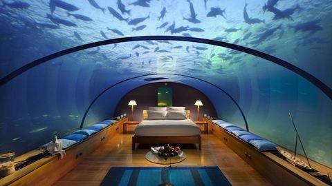 Elképesztő víz alatti hotelszobák