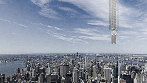 Lebegő felhőkarcolót terveztek New Yorkba