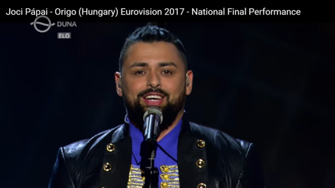 Megvan hányadikként énekel Pápai Joci az Eurovíziós Dalfesztiválon