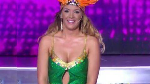 Hódi Pamela nem hiába koplalt, jól mutatott a szűk dresszben a Nagy duett színpadán