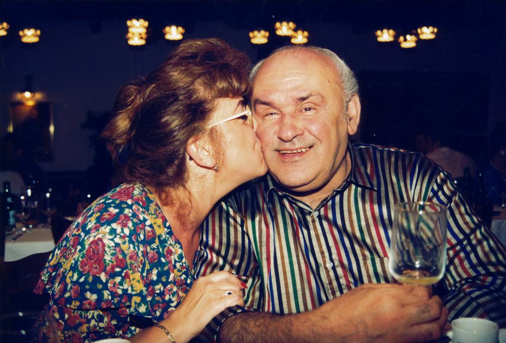 Hofi Géza és felesége Ildikó