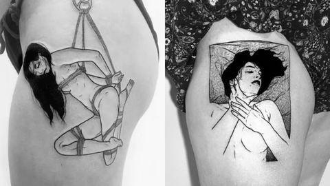 Kikötözés, önkielégítés, orgazmus: szex ihlette tetoválások