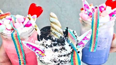 Az unikornisos milkshake-ek szinte túl szépek az emberi szemnek