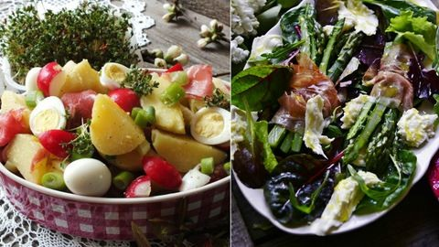 Két tavaszi saláta