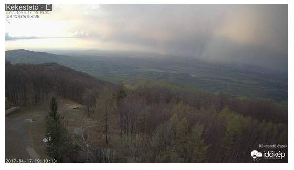 A Kékestető sípálya északi webkamerája