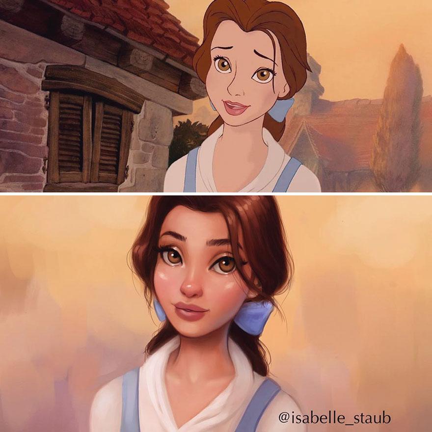 Ilyenek lennének a Disney-hercegnők realisztikusabb külsővel