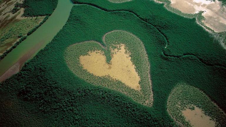 Arthus-Bertrand egyik legismertebb fotója a Földünk a magasból sorozatból (Fotó: yannarthusbertrand.org)