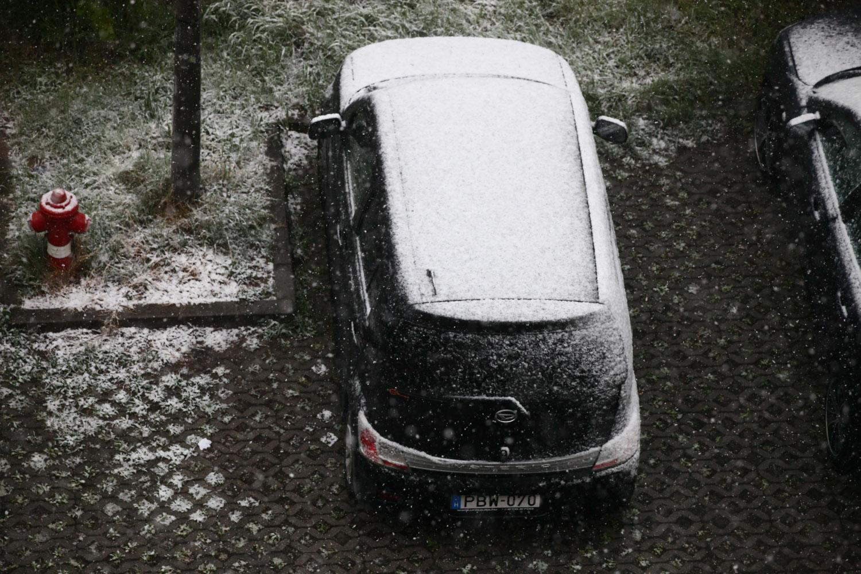 Nézd meg az áprilisi hóesést!  - fotók