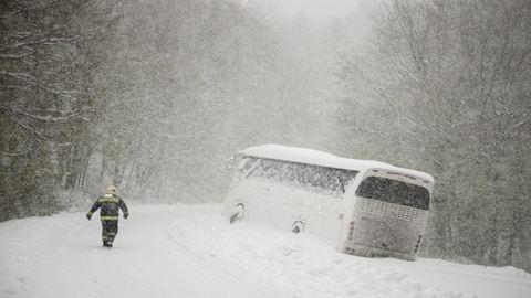 Újabb hidegrekordok, kilenc településre bejutni sem lehet