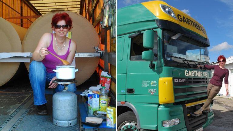 Ismerjétek meg Nellit, aki szociológus diplomával kamiont vezet