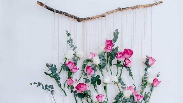 DIY: függő virágtartó a falra