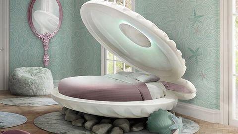 Ebben a kagyló alakú ágyban az összes sellős fantáziádat kiélheted
