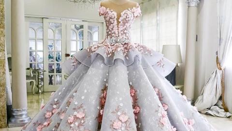 A menyasszonyi ruha alakú esküvői torta túl szép, hogy felvágják