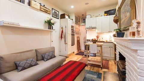 Nézd meg, hogy él boldogan egy New York-i pár 22 négyzetméteren!