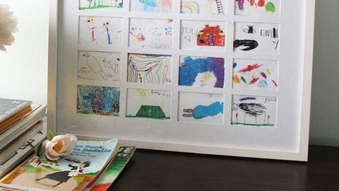 7 imádni való ötlet, hogyan dekorálj a gyerkőcök rajzaival