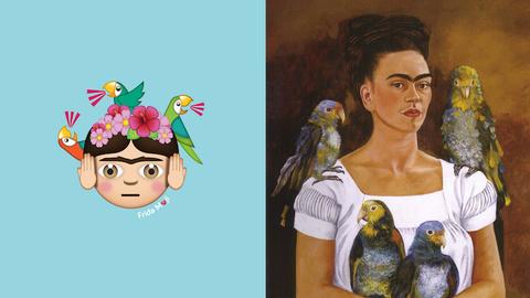 Emojikollekció lett a leghíresebb Frida Kahlo-festményekből