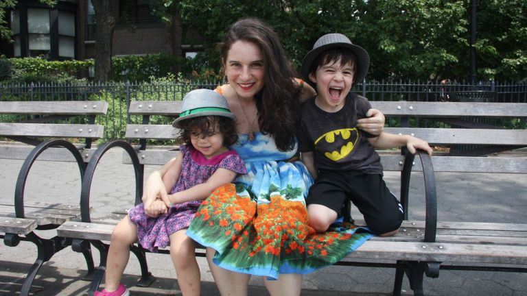 Sarah Fader a gyerekeivel
