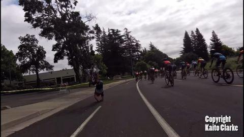 Drón találta el a biciklist – videó