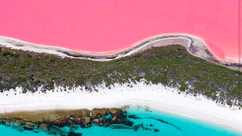 Imádja az Instagram az ausztrál rózsaszín tavat
