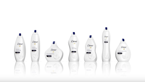 Kiakadt a net a Dove különféle testeket formázó tusfürdőire